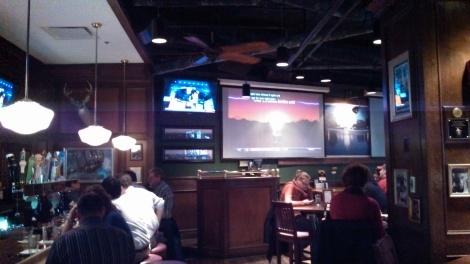 Back bar area at BlackFinn