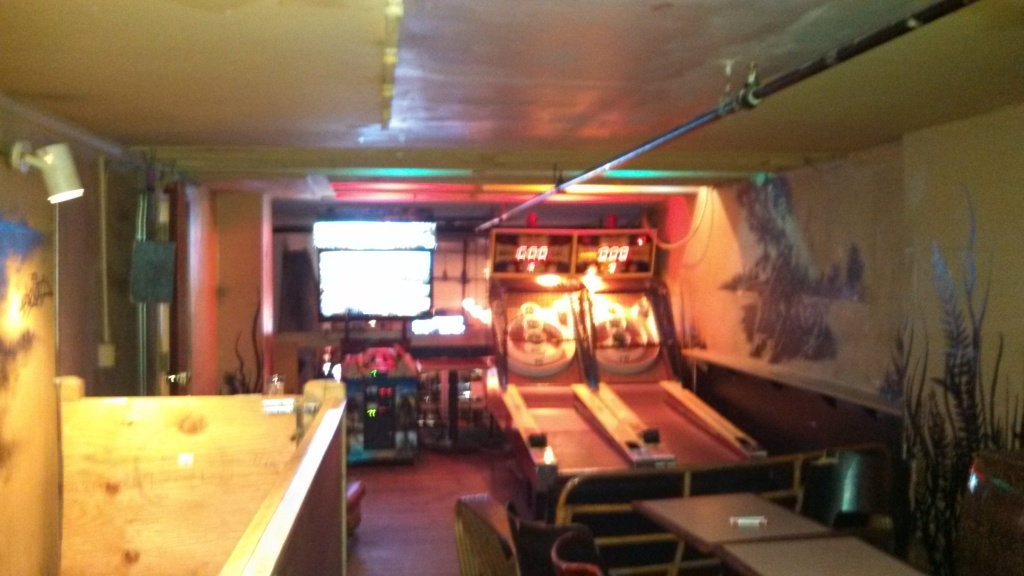 Upstairs at Big Hunt - Skee ball tables
