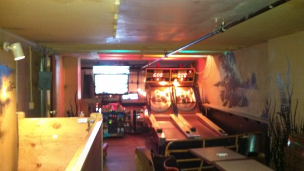 Upstairs at Big Hunt - Skee ball tables