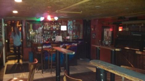 Upstairs bar at Big Hunt