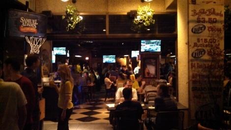 View of Buffalo Billiards as you walk in