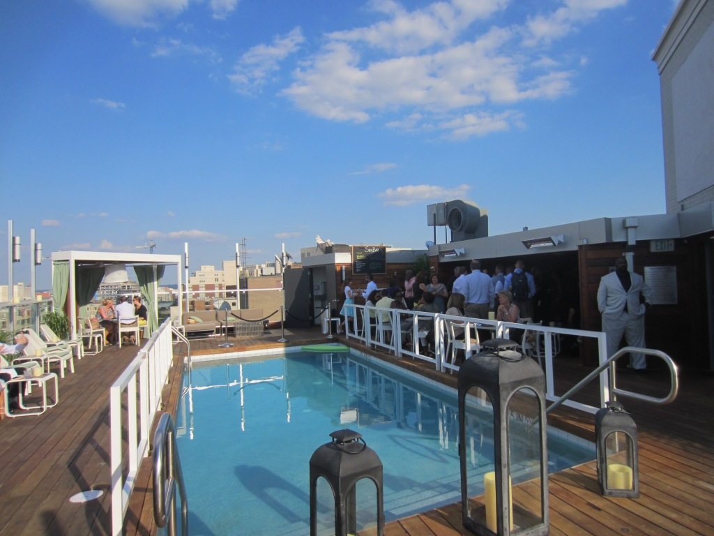 The pool + satellite bar + more seating