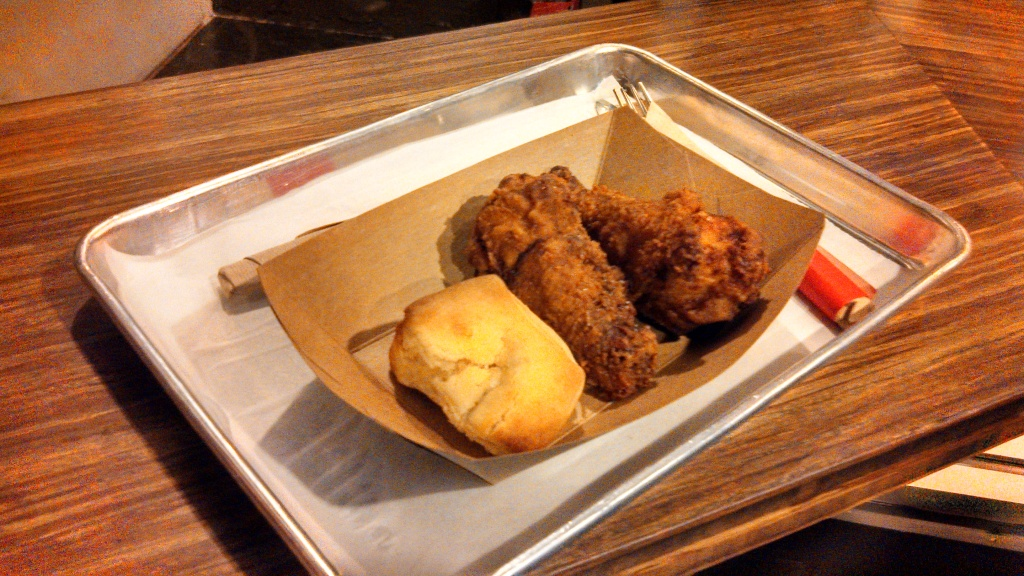 Fried chicken and the awesome GBD biscuit