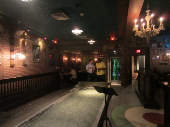 Another view of the upstairs bocce court