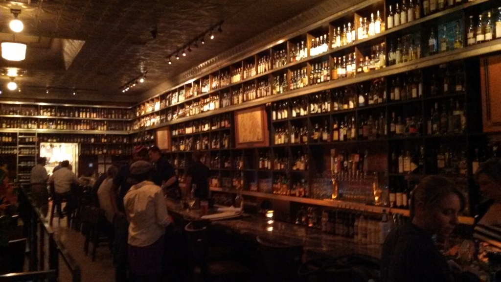 First Floor Dining Room and Walls of Liquor