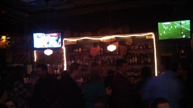 Second floor bar