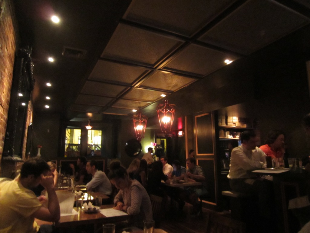 The dining area at Bar Charley