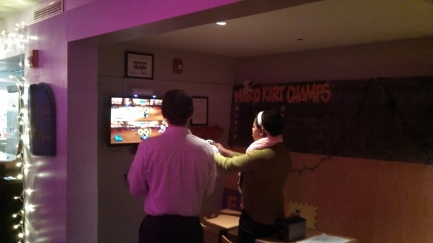 Nintendo Wii/Mario Kart being played