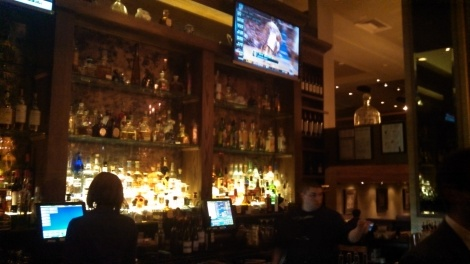 Cozy secluded bar near entrance