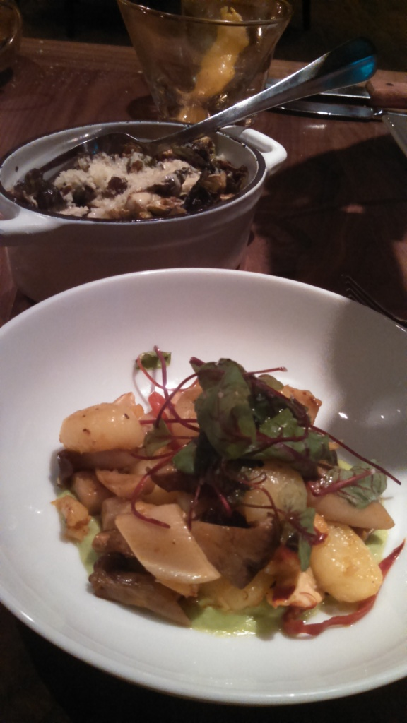 Star dishes here - fried brussels sprouts & lobster gnocchi