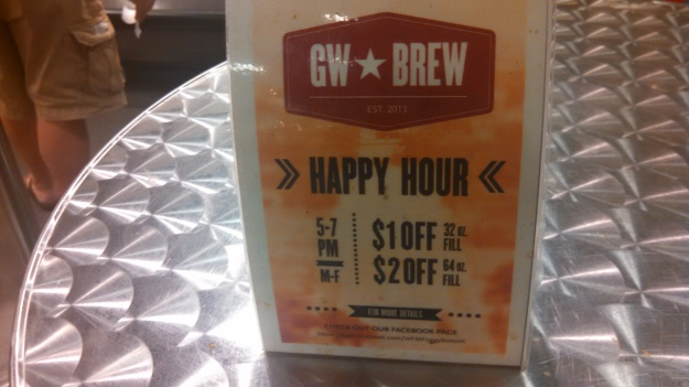 Details on the growler happy hour