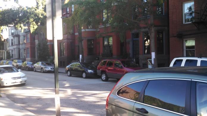 Swann Street residences across from bar
