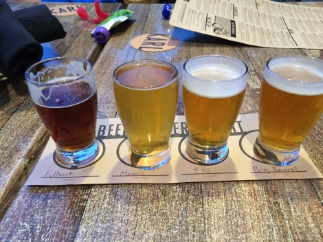 Flights at Karl Strauss Brewing