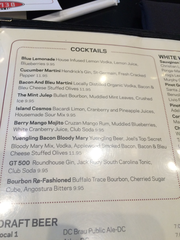 Cocktail Menu