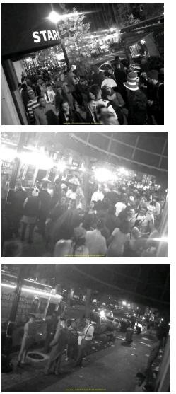Security Camera Footage of Nightmare on M Street crowds