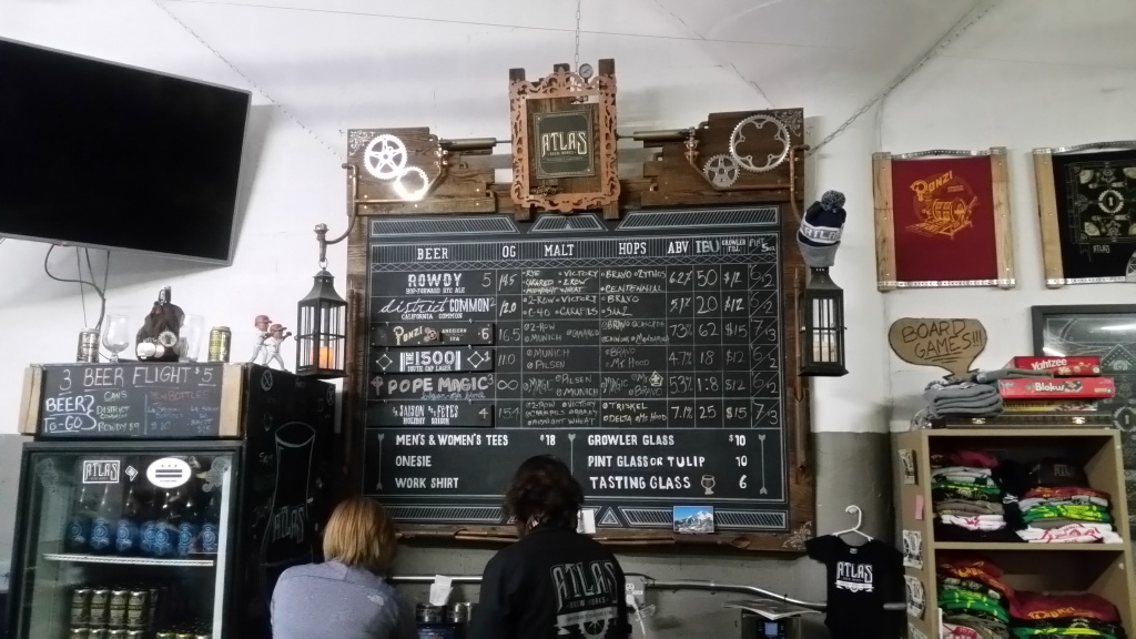 Atlas Brew Works bar