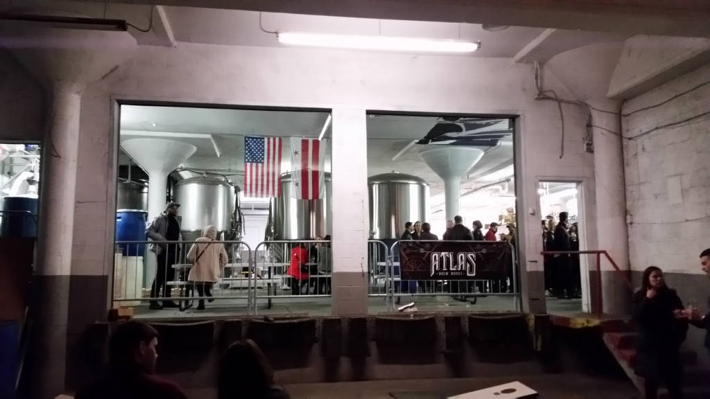 View of brewery from the cornhole area