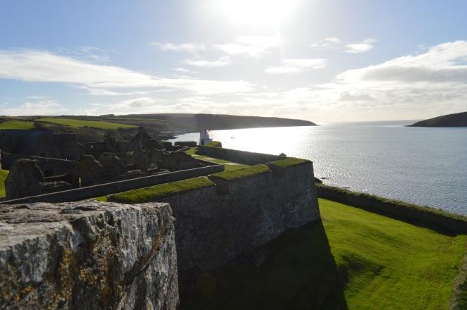 View from Charles Fort, Atlantic Ocean in background