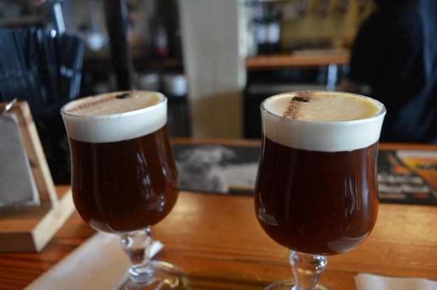 Tremendous Irish Coffees at Bulman Bar in Kinsale